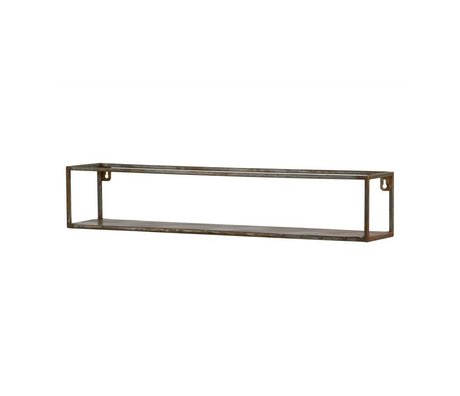 BePureHome Wall shelf Weldone xl rust orange metal 15x80x15cm
