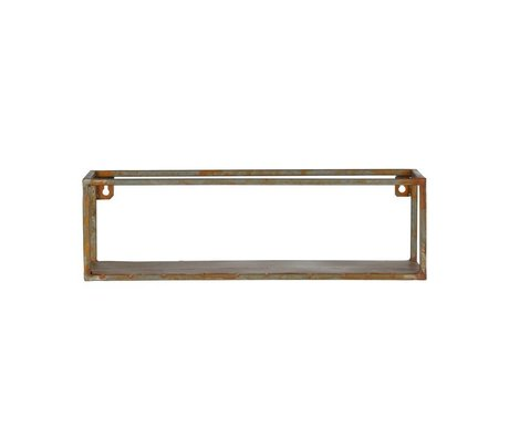 BePureHome Wall shelf Weldone rust orange metal 15x50x15cm