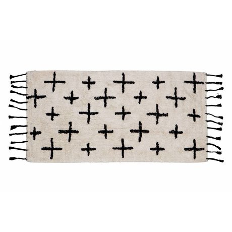 BePureHome Rug More off white cotton 70x140cm
