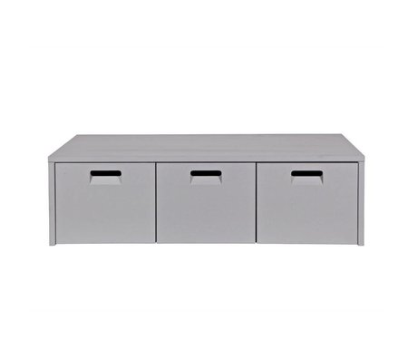 vtwonen Storage bench Store light gray pine 120x50x36cm