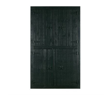 vtwonen Cabinet Bunk black pine 4-door 120x37x200cm