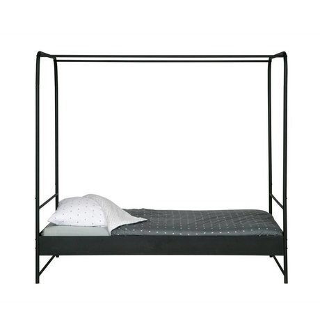 vtwonen Canopy bed Bunk black metal 190x206x125cm