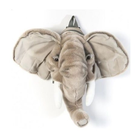 Wild and Soft Backpack Elephant gray textile 16x52x36cm