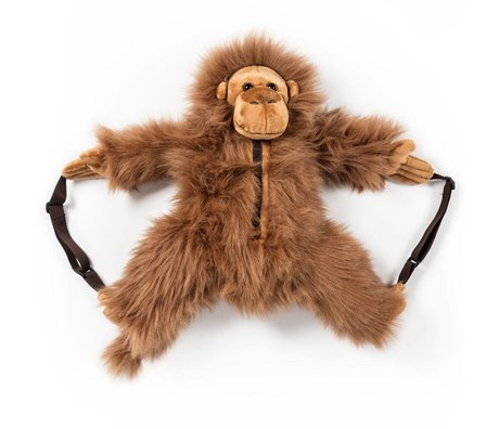 Wild and Soft Rugzak Aap bruin textiel 50x20x15cm