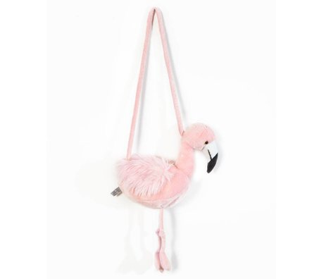 Wild and Soft Shoulder bag Flamingo pink textile 30x12x45cm