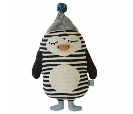 OYOY Knuffel kussen baby Bob Penguin katoen 18x26cm