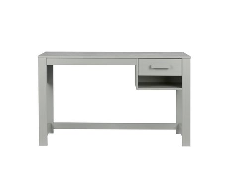 LEF collections Buro Dennis junior concrete gray pine 125x58x75cm