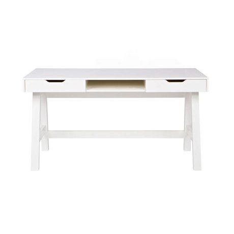 LEF collections Buro Nikki white pine 140x62x75cm
