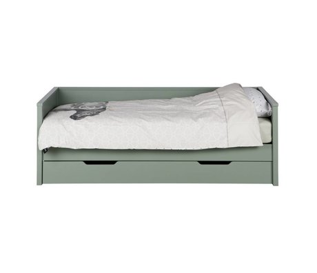 LEF collections Bed drawer for sofa bed Nikki jade green pine 208x100x73cm