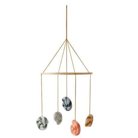 OYOY Mobile Lollipop multicolour cotton Ø28x130cm