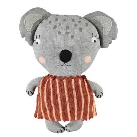 OYOY Hug mami koala gray cotton 38x28x12cm