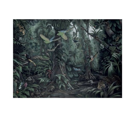 KEK Amsterdam Wallpaper Tropical Landscapes green non-woven wallpaper 389,6x280cm (8 sheets)