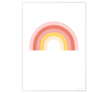 A Little Lovely Company Poster Rainbow white multicolour paper 50x70cm