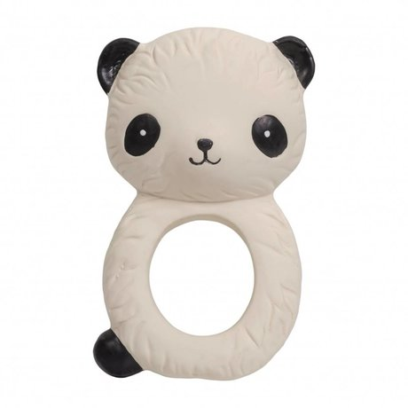 A Little Lovely Company Teether Panda natural rubber 6.3x4x10cm