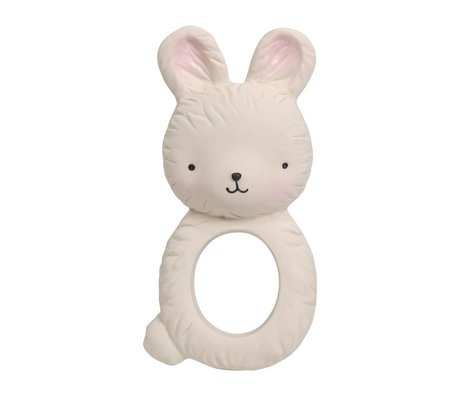 A Little Lovely Company Teether Bunny natural rubber 6x3,7x12cm