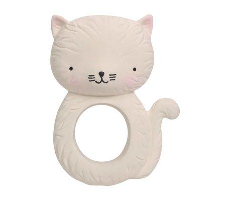 A Little Lovely Company Bijtring Kitty natuurlijk rubber 7,5x3,7x10,3cm