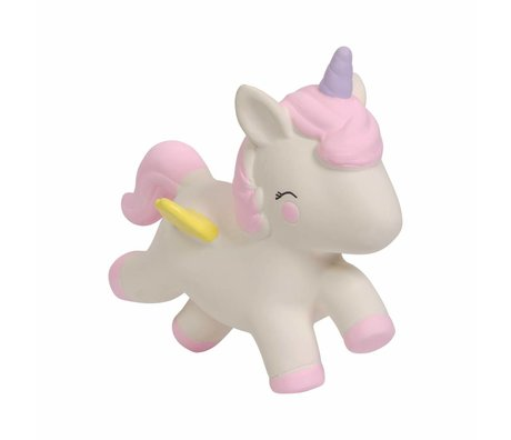 A Little Lovely Company Bite toy Unicorn natural rubber 11.7x5.5x10.4 cm