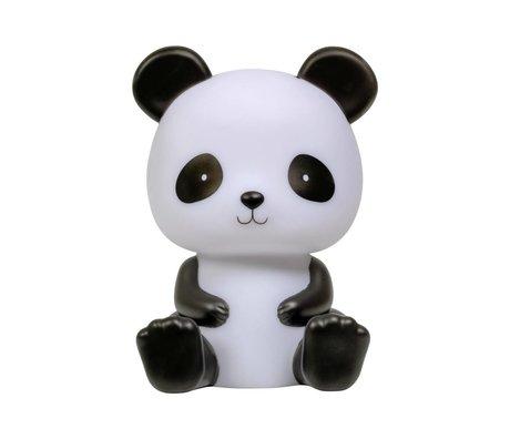 A Little Lovely Company Tafellamp Panda zwart wit 12x13x19cm