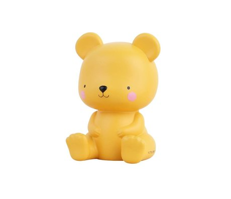 A Little Lovely Company Table lamp Bear salted caramel yellow 9,4x9x13cm