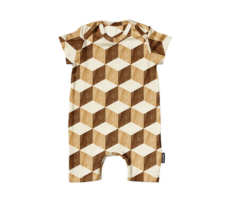 Snurk Beddengoed Romper Wooden cubes cotton size 62