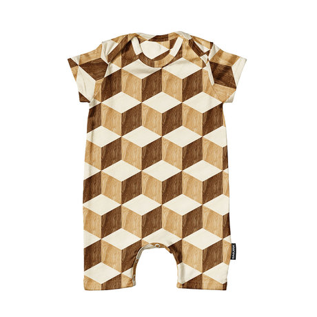 Snurk Beddengoed Romper Wooden cubes cotton size 68