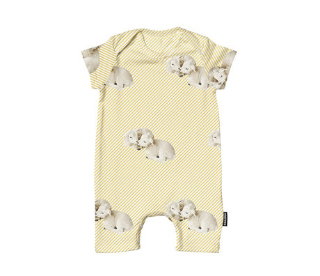 Snurk Beddengoed Bodysuit Little Lambs cotton size 62