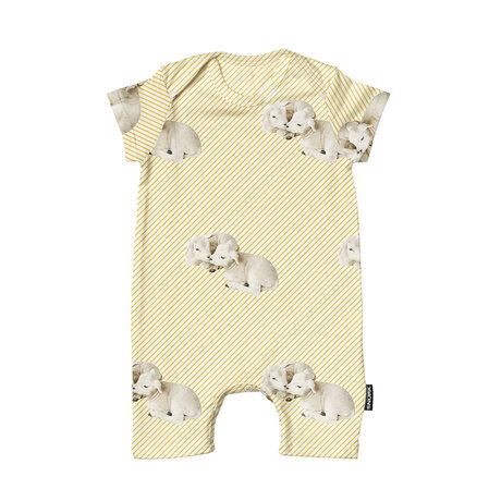 Snurk Beddengoed Bodysuit Little Lambs cotton size 68