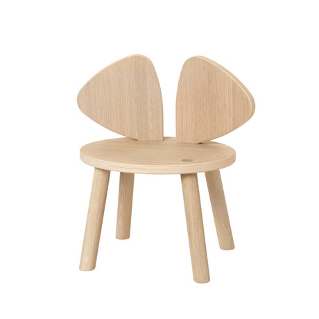 NOFRED Toddler chair Mouse oak wood 42.5x28x45.9cm