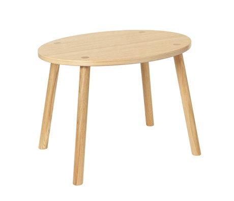 NOFRED Toddler table Mouse varnished oak wood 54x39x43.7cm