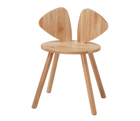 NOFRED Highchair Mouse varnished oak wood 48.7x32.8x64.3cm