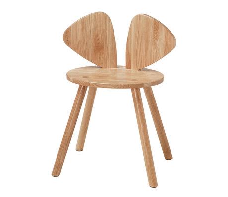 NOFRED Kinderstoel Mouse gelakt eiken hout 48,7x32,8x64,3cm