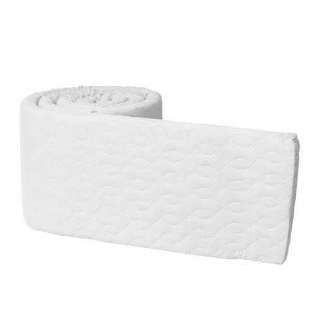 Sebra Baby bumper pearl white cotton 345x3.5x30 cm