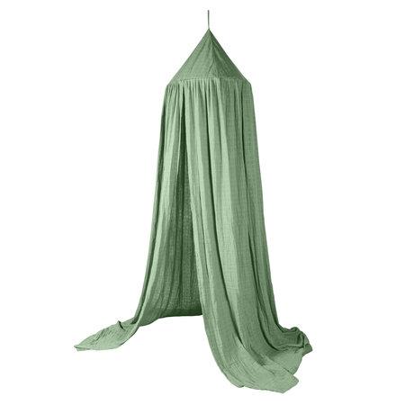 Sebra Mosquito net Moss green cotton 240x52cm