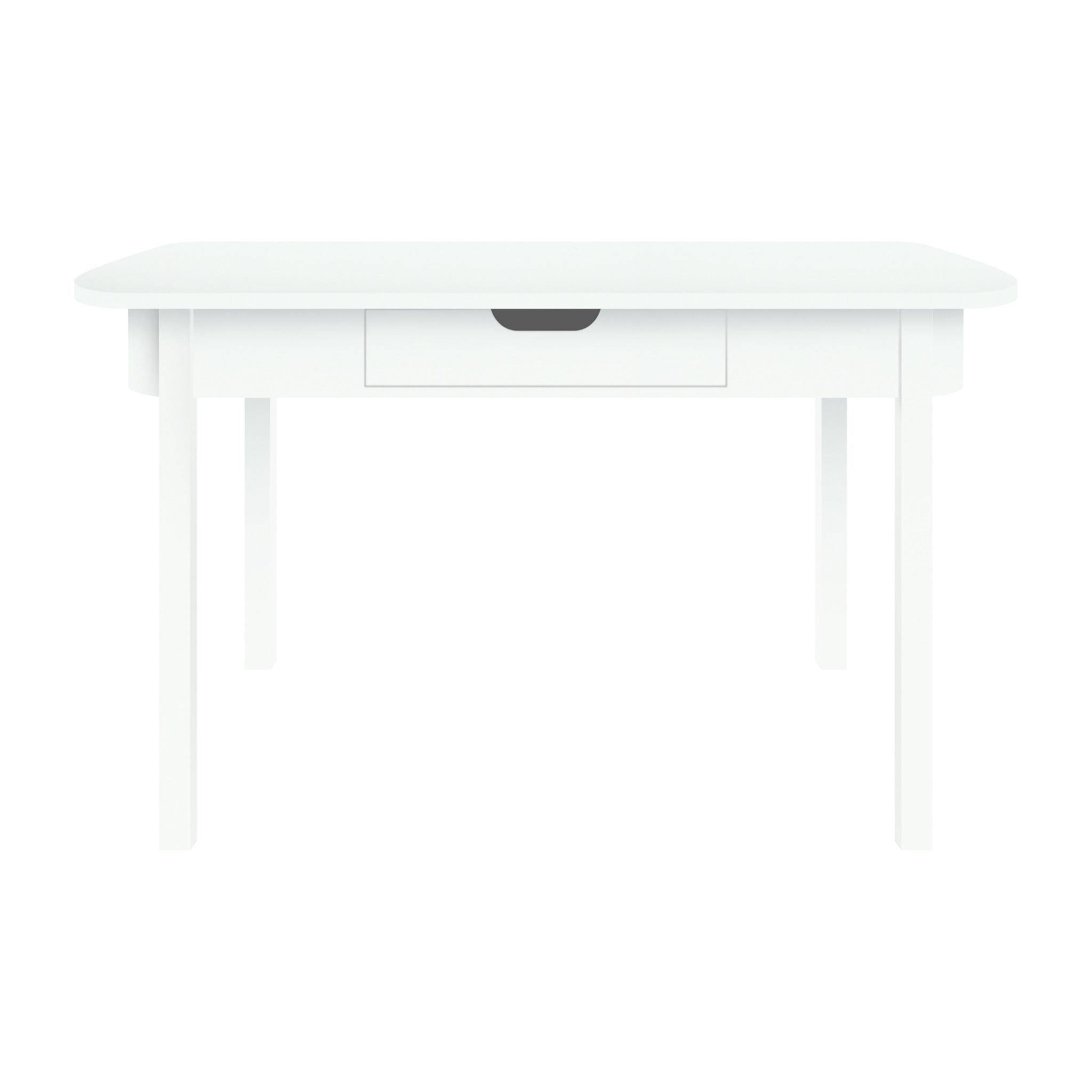 Bureau Wit Met Hout.Bureau Desk Wit Hout 100x60x73 5cm