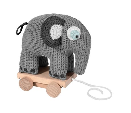 Sebra Draft animal Fanto gray cotton 24x13x25cm