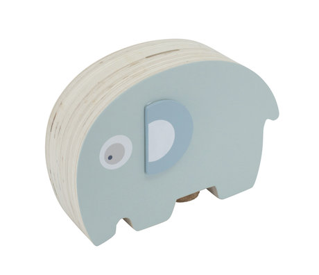Sebra Money box Fanto the elephant blue wood 18,8x6,1x11,8cm