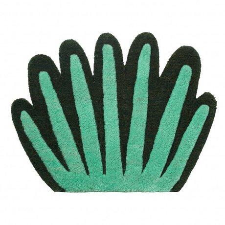 Ferm Living Vloerkleed / wandkleed Coral Tufted  groen wol katoen 55x80cm