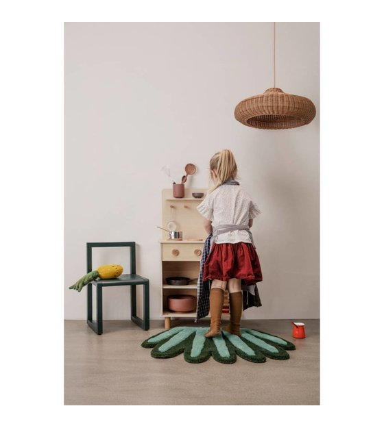 Admirable Ferm Living Kids Coral Tufted Carpet Wall Rug Green Wool Cotton 55X80Cm Gmtry Best Dining Table And Chair Ideas Images Gmtryco