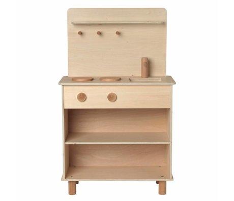 Ferm Living kids Speelkeuken Toro Play Kitchen naturel bruin hout 26x53x87cm