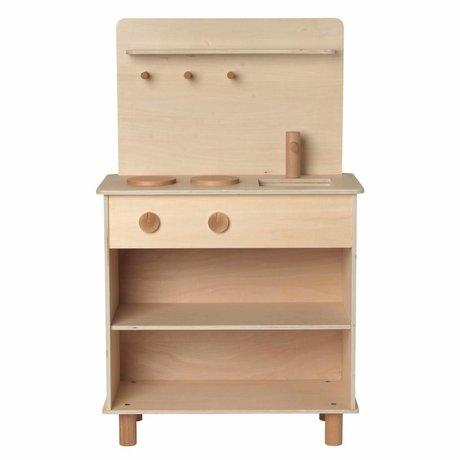 Ferm Living kids Play kitchen Toro Play Kitchen natural brown wood 26x53x87cm
