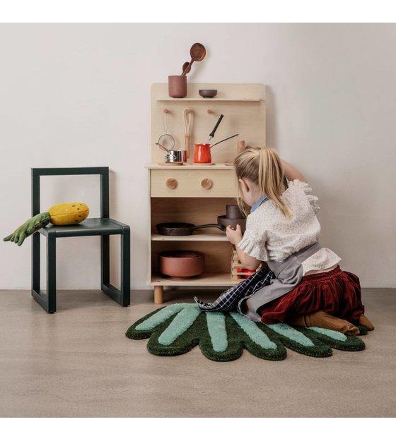 Ferm Living Zitzak.Houten Speelkeuken Toro Play Kitchennaturel Bruin Hout 26x53x87cm