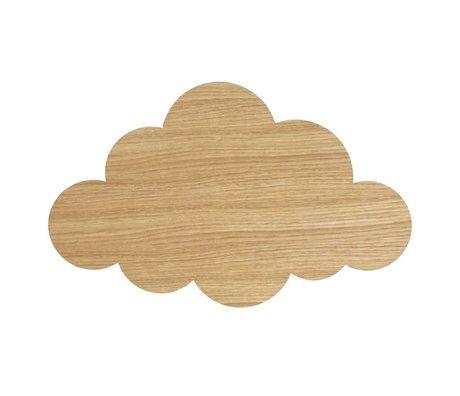 Ferm Living kids Wall lamp Cloud Oiled Oak natural brown wood 6.5x40x25cm
