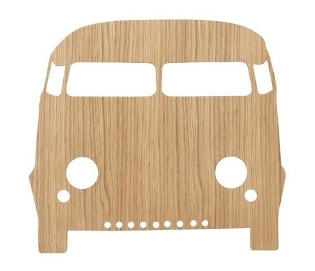 Ferm Living Wall lamp Car Oiled Oak natural brown wood 6.5x27x22.5cm