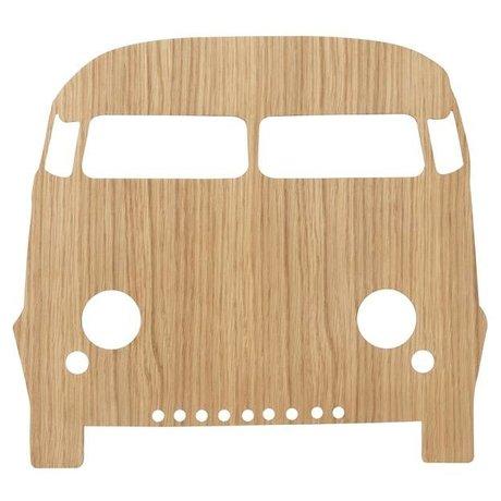 Ferm Living kids Wandlamp Car Oiled Oak naturel bruin hout 6,5x27x22,5cm