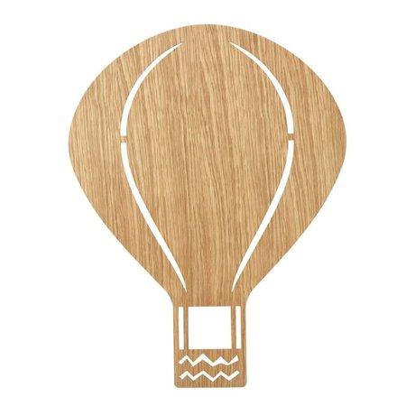 Ferm Living kids Wall lamp Air Balloon Oiled Oak natural brown wood 6.5x26.5x24.5cm