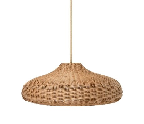 Ferm Living kids Hanglamp Braided  naturel bruin rotan 49,5x49,5x20cm