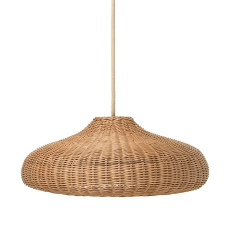 Ferm Living kids Hanging lamp Braided natural brown rattan 49.5x49.5x20cm