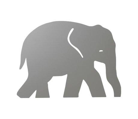 Ferm Living kids Wandlamp Elephant Warm grijs hout 6x35,4x26cm