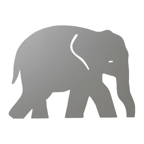 Ferm Living kids Wall lamp Elephant Warm gray wood 6x35.4x26cm