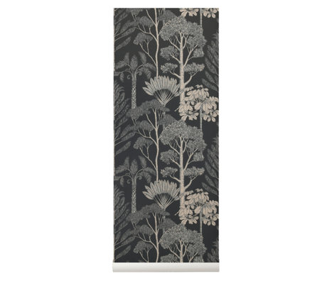 Ferm Living kids Wallpaper Katie Scott Trees brown gray 10x0.53m